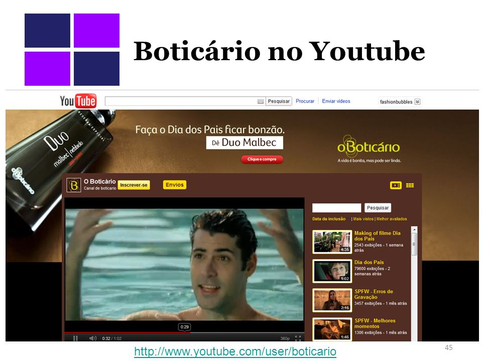 Boticário no Youtube 45