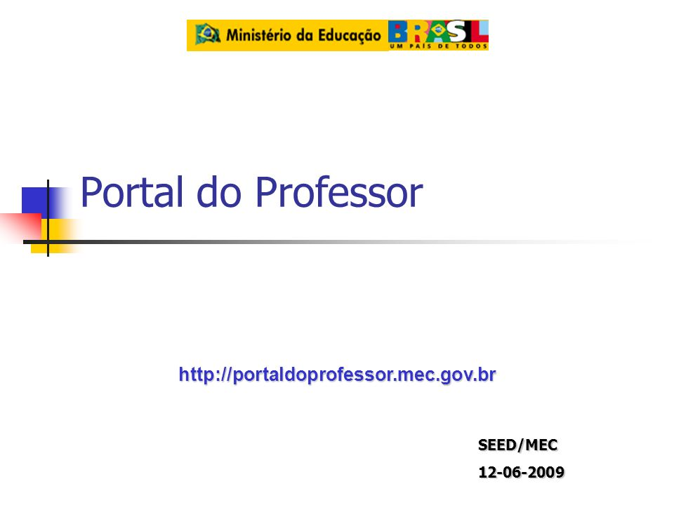 Portal do Professor   SEED/MEC