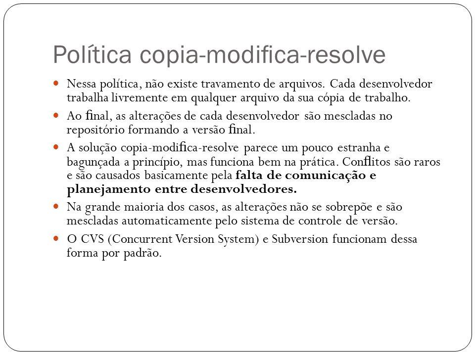 Controle de versão. Política trava-modifica-destrava Nessa política ... 8441dc9e414ff