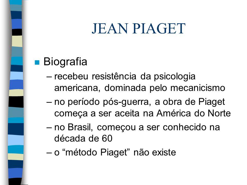 17488bc9ce8 5 JEAN PIAGET n Biografia –recebeu resistência da psicologia americana