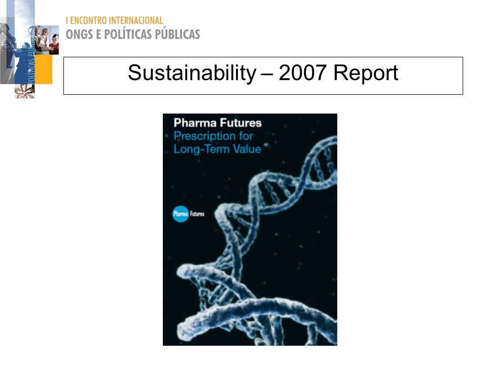 Sustainability – 2007 Report