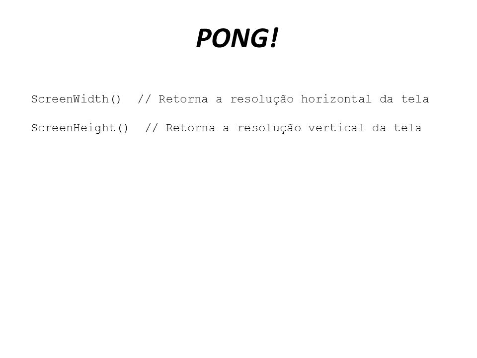 PONG.
