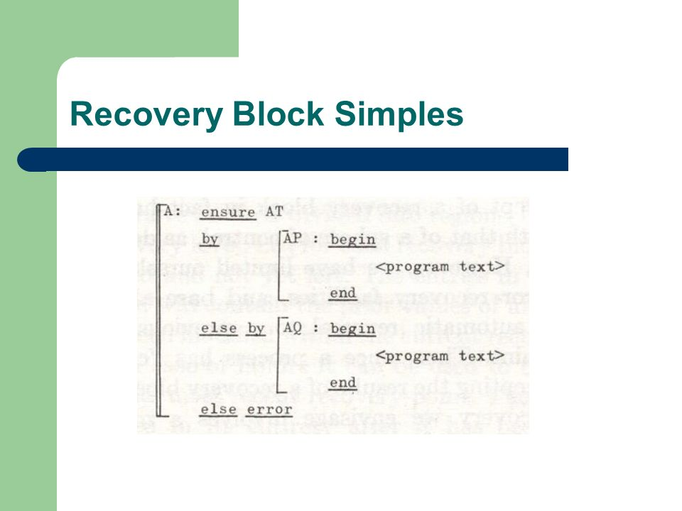 Recovery Block Simples