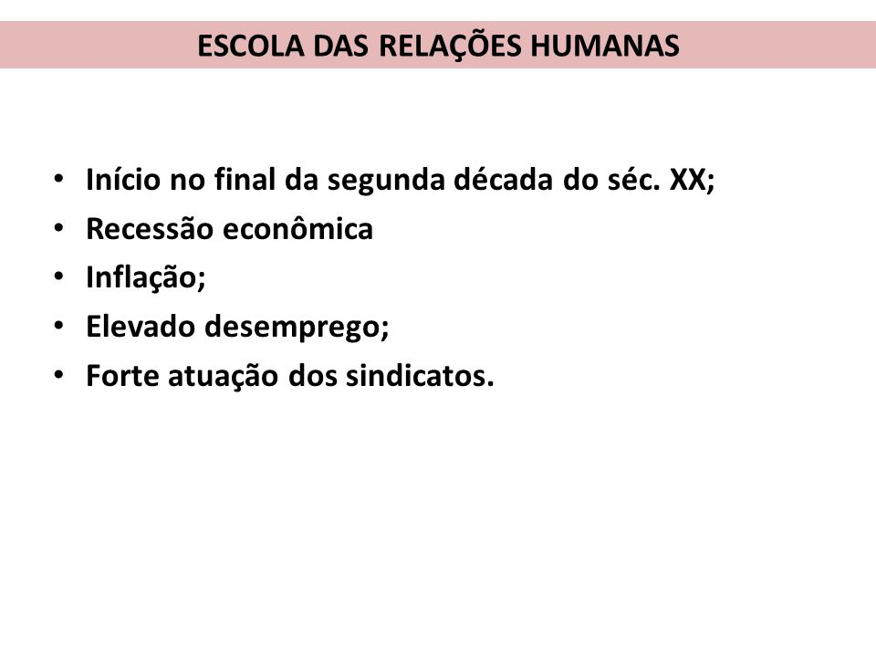 ab3961171f7c1 Curso de Administração Disciplina  TGA ESCOLA DAS RELAÇÕES HUMANAS ...