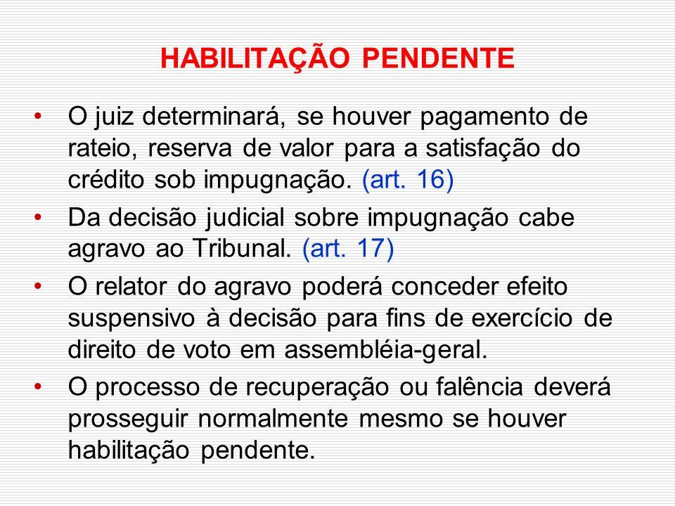 0e40973d21 Verificação e Habilitação de Créditos © 2008 Ivanildo Figueiredo ...