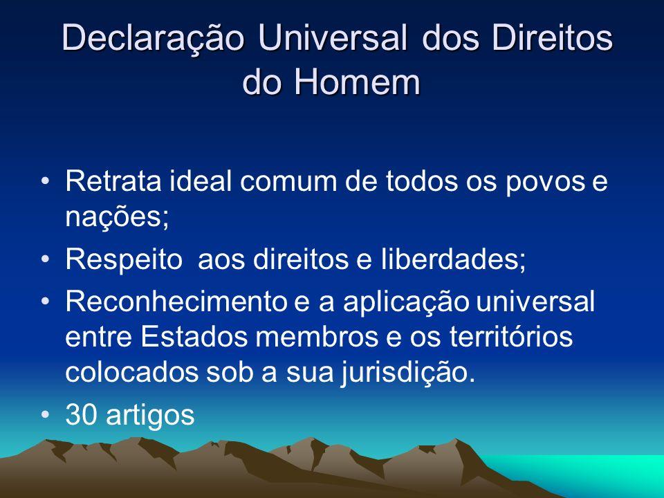 4ca9697155b08 3 Declaração Universal dos Direitos do Homem Declaração Universal dos  Direitos do Homem Retrata ideal comum de todos os povos e nações  Respeito  aos ...