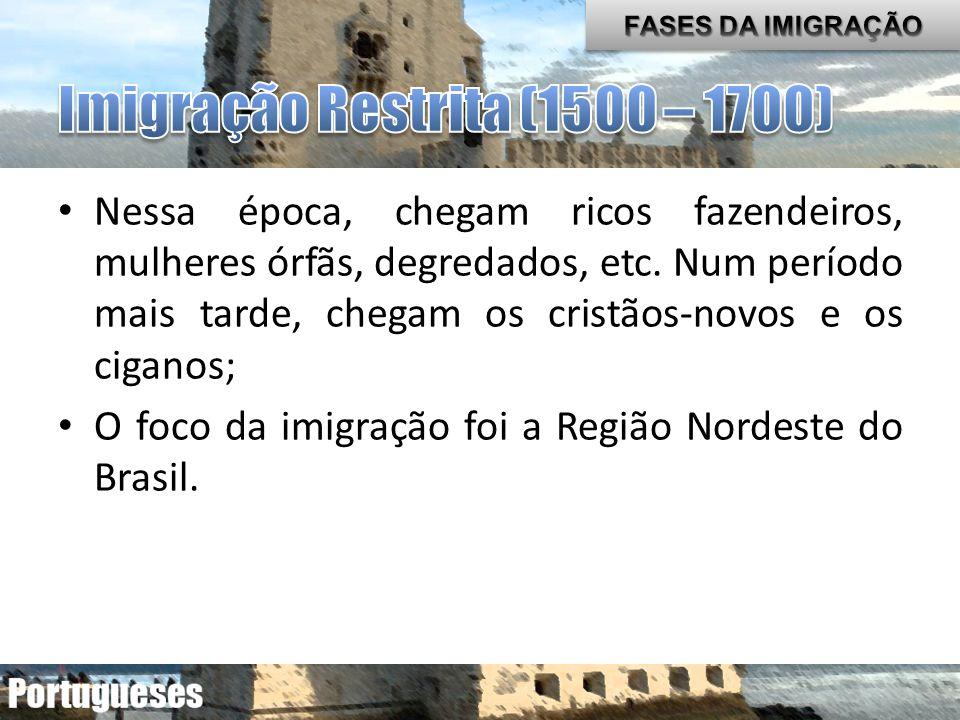 Movimento populacional de Portugal para o Brasil