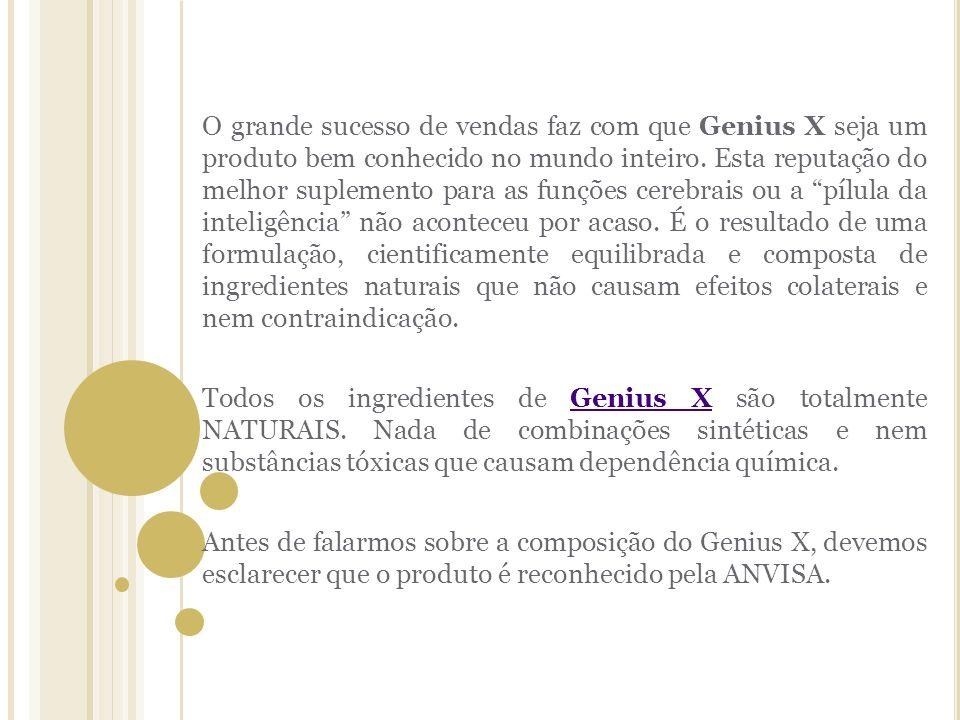 d7743a3656 O grande sucesso de vendas faz com que Genius X seja um produto bem  conhecido no