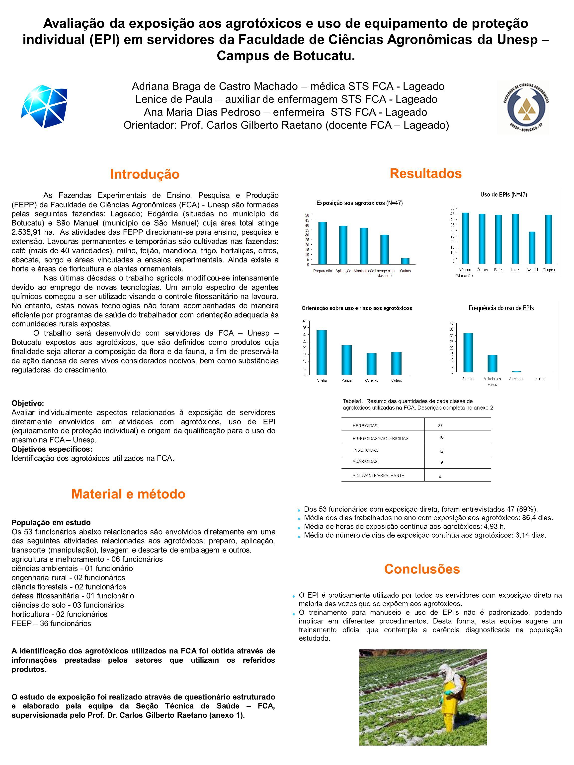 1 Avaliação da exposição aos agrotóxicos e uso de equipamento de proteção  individual (EPI) em ... a8e41a8c15