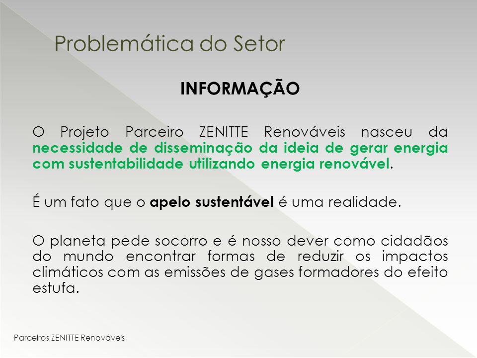 06483aae0 INFORMAÇÃO O Projeto Parceiro ZENITTE Renováveis nasceu da necessidade de  disseminação da ideia de gerar energia
