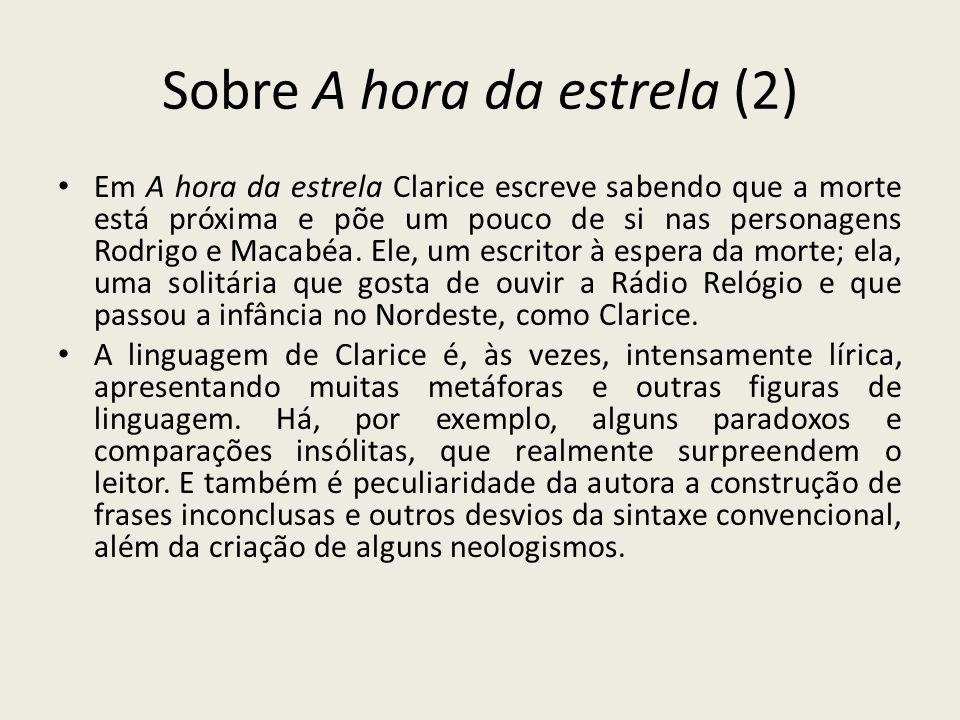 Informações Sobre A Hora Da Estrela 1977 De Clarice Lispector