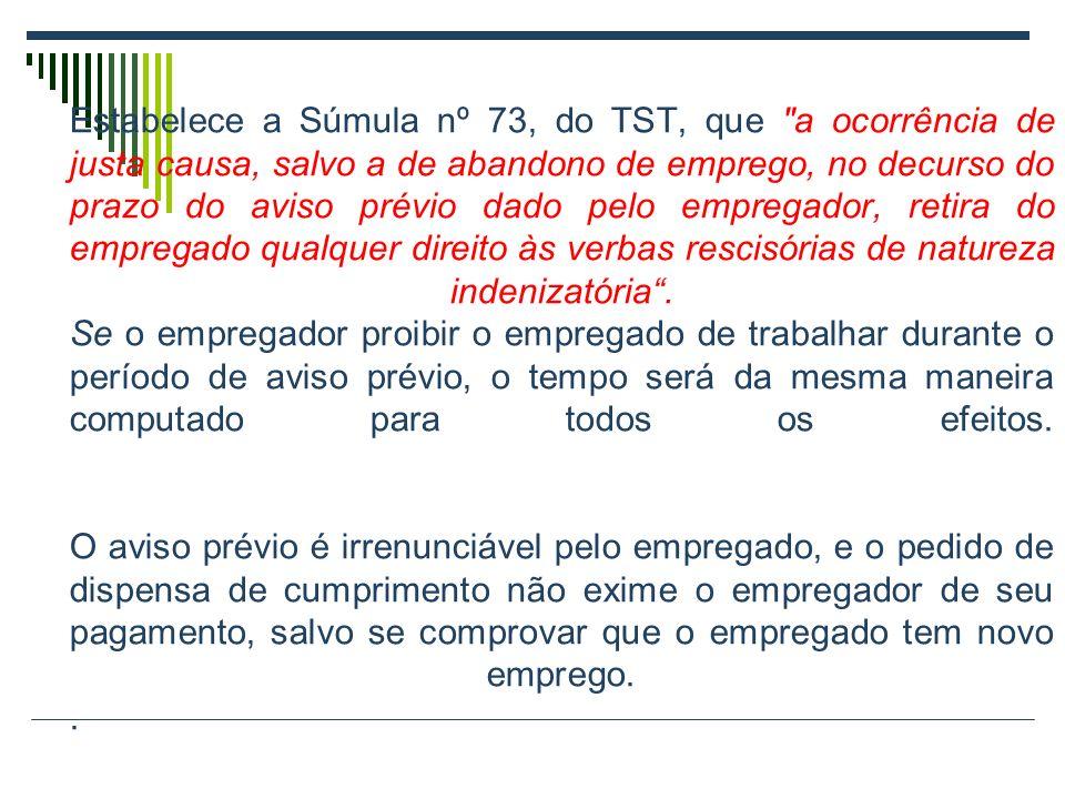 651370313566f Estabelece a Súmula nº 73, do TST, que a ocorrência de justa causa,