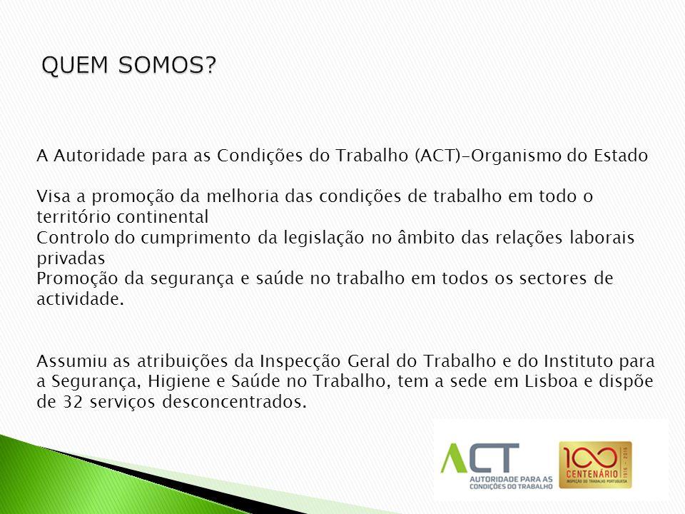 711ecf108697e 2 A Autoridade para as Condições do Trabalho (ACT)-Organismo do Estado Visa  a promoção da melhoria das condições de trabalho em todo o território ...