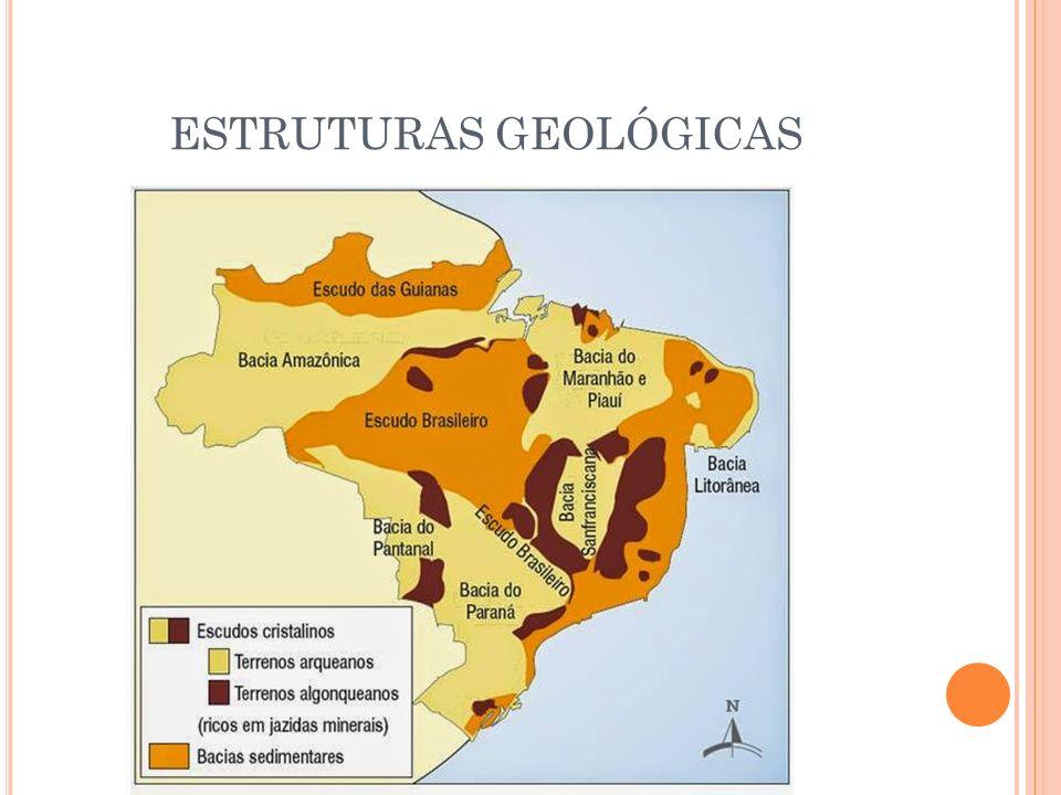Brasil Estrutura Geológica Minerais Relevo Estruturas