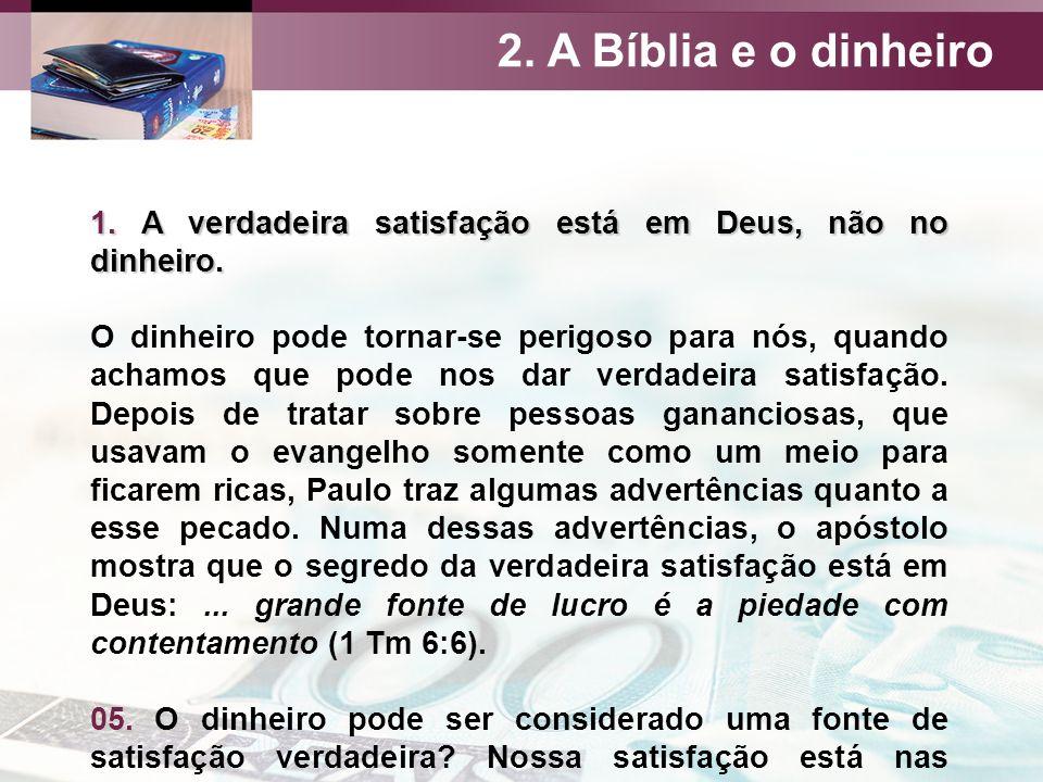 8 De Outubro De 2016 A Bíblia E O Dinheiro Ordene Aos Que São Ricos