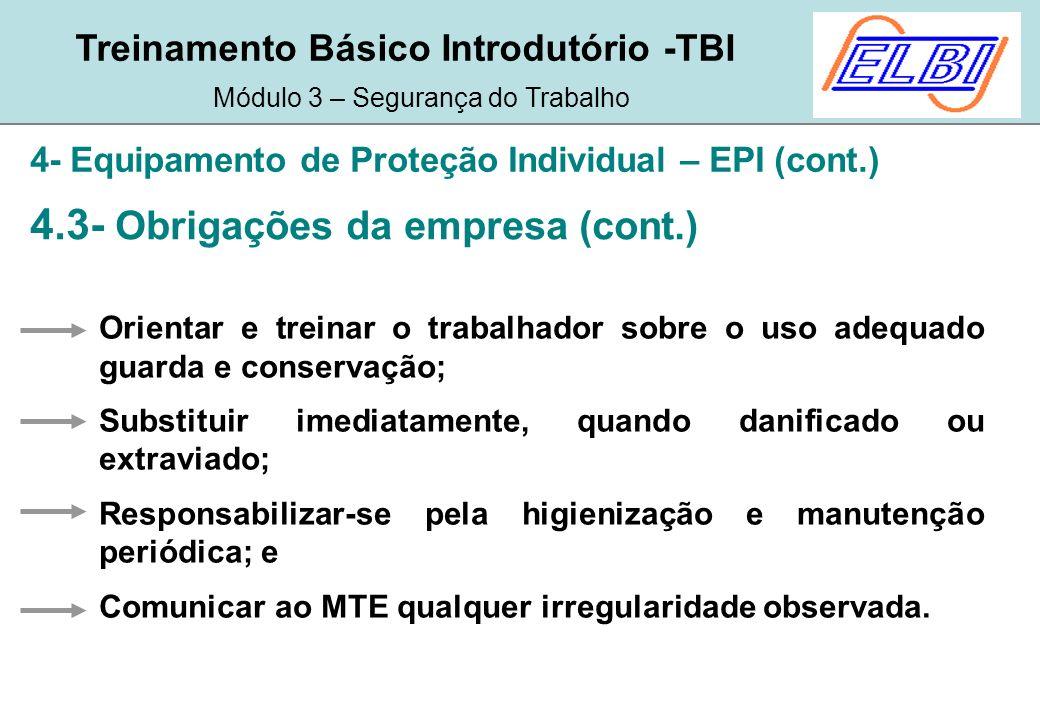 Treinamento Básico Introdutório -TBI Módulo 3 – Segurança do ... 3a6ae55ce8
