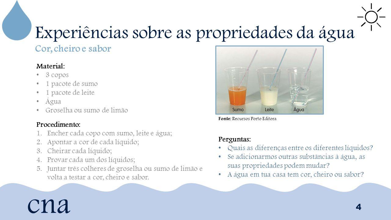 cabc1d4632a 4 Experiências sobre as propriedades da água 4 cna Cor