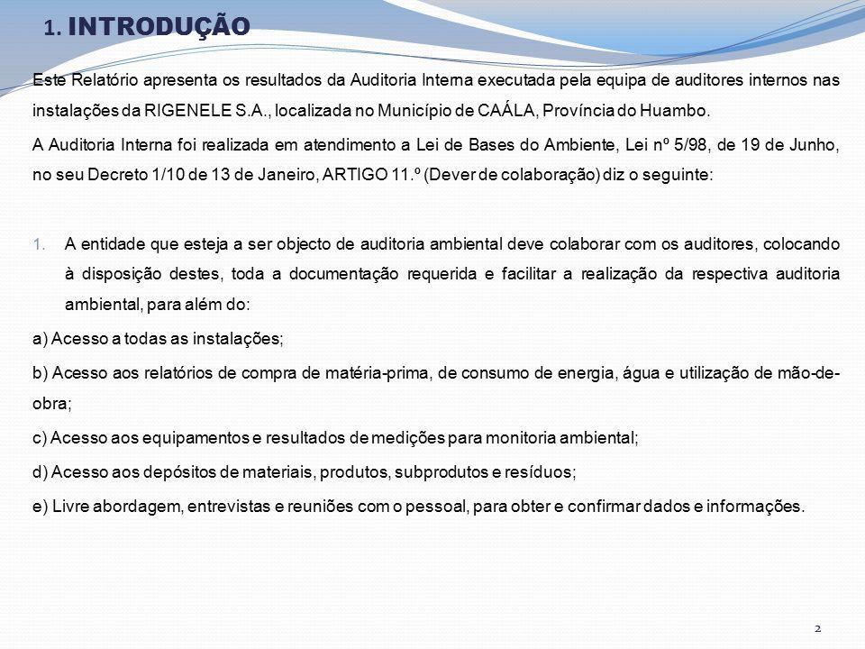 Auditoria Ambiental Relatório De Auditoria Interna 2017