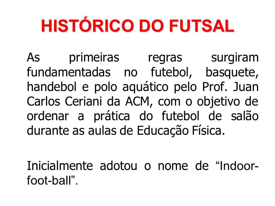 HISTÓRICO DO FUTSAL As primeiras regras surgiram fundamentadas no futebol 18dd0c0775100