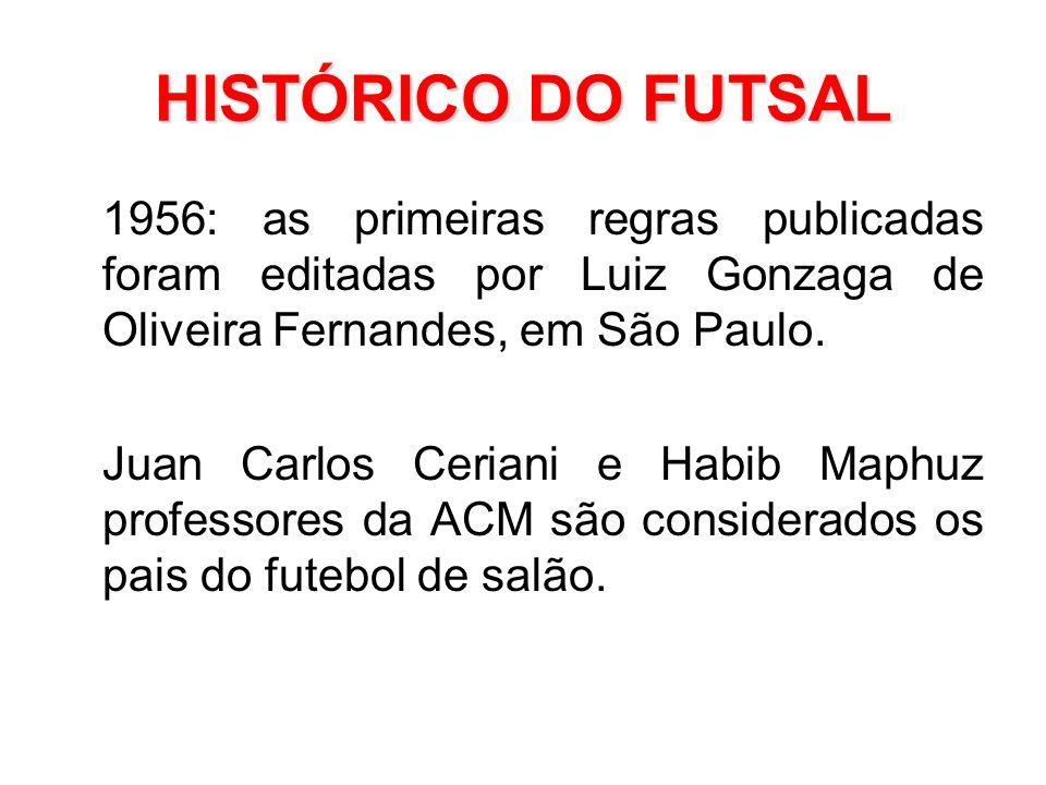 HISTÓRICO DO FUTSAL 1956  as primeiras regras publicadas foram editadas por  Luiz Gonzaga de Oliveira b9042bb1b0478