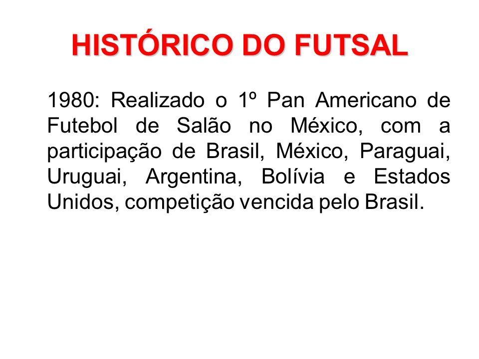ee04d7f69f175 24 HISTÓRICO DO FUTSAL 1980  Realizado o 1º Pan Americano de Futebol de  Salão no México